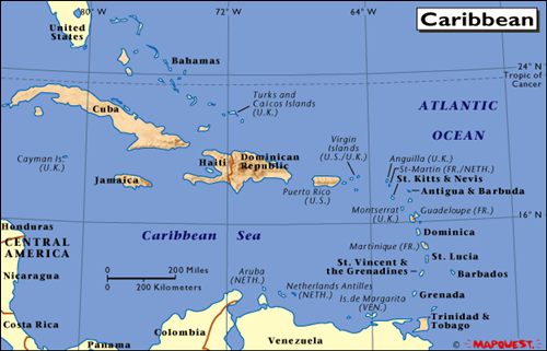 caribean map